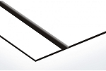 FLEX- White/Black-12x24x020-With Adhesive