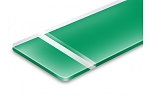 Reverse Clear Matte Bright Green-12x24x060