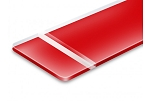 Reverse Matte Clear Red-12x24x060