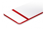 UVP-0003-Matte White/Red-12x24x060