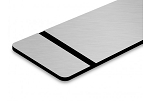 Flex-Award-Brushed Silver/Black-12x24x1/250 (BOX OF 10)